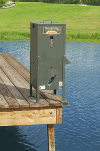 Texas Hunter 125 lb. Feeder on Dock