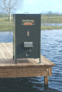Texas Hunter 425 lb. Feeder on Dock