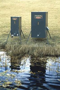 Texas Hunter Fish Feeders on Shoreline